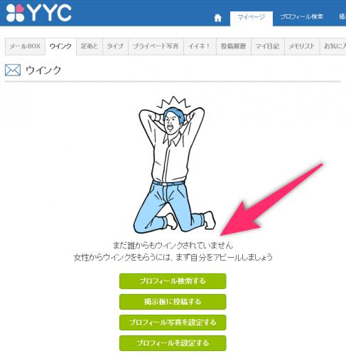 YYC(ワイワイシー)のウィンク機能